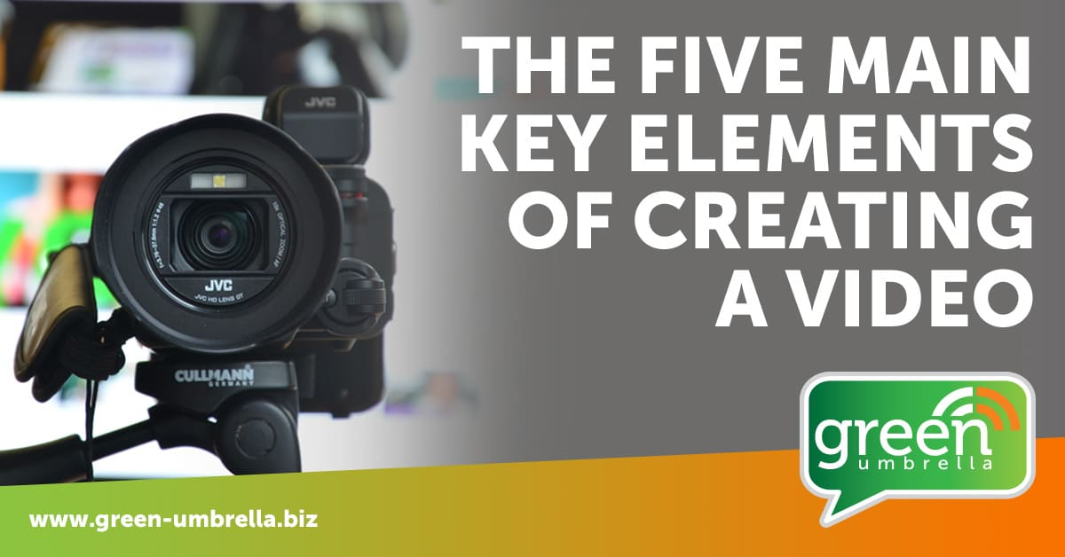 Five main elements of creating a video