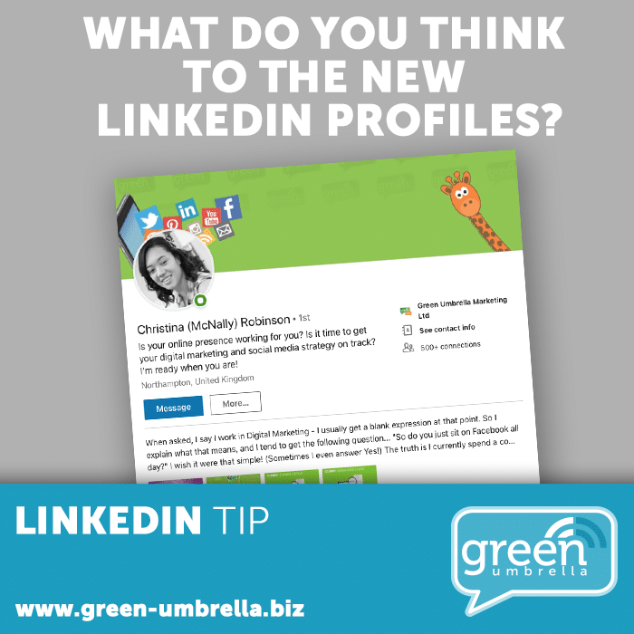 What do you think to the new LinkedIn Profiles?