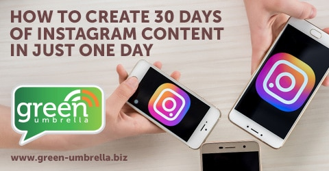 How to Create 30 Days of Instagram Content In Just One Day