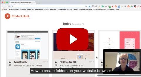 Google chrome tabs folder