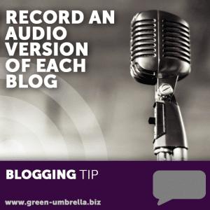 Blogging tips - audio