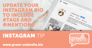 Instagram Tip: Update your Instagram Bio to Include #tags and @mentions