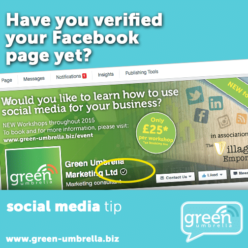 Have You Verified Your Facebook Page Yet? - Green Umbrella Marketing