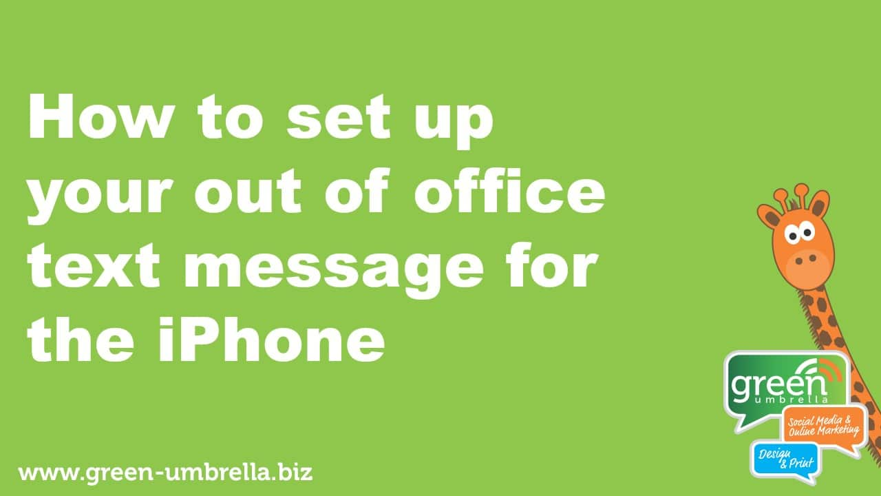 how to set up your out of office text message responder.