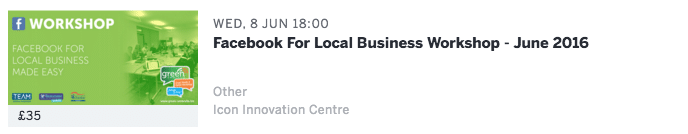 Facebook for business workshop - Daventry