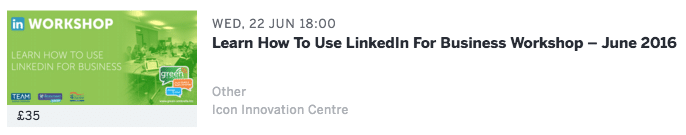 Linkedin workshop Daventry