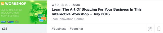Learn the art of blogging workshop in Daventry