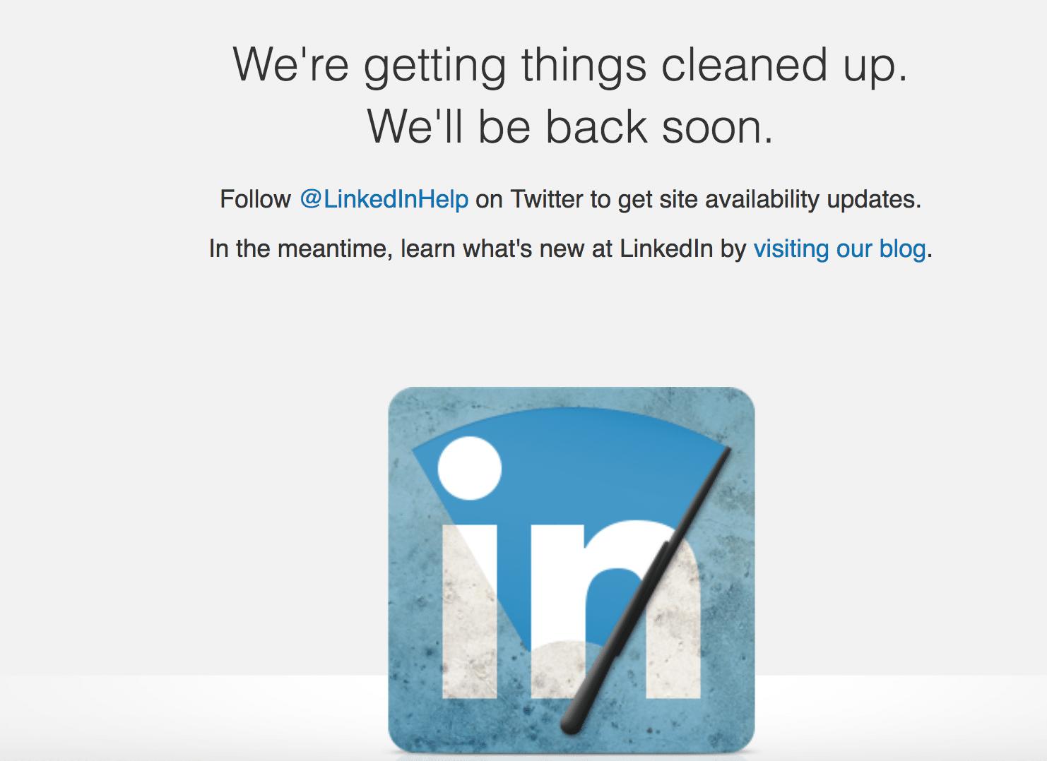 LinkedIn cleaing things up