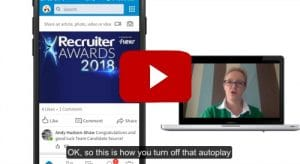 how to turn off autoplay videos on LinkedIn