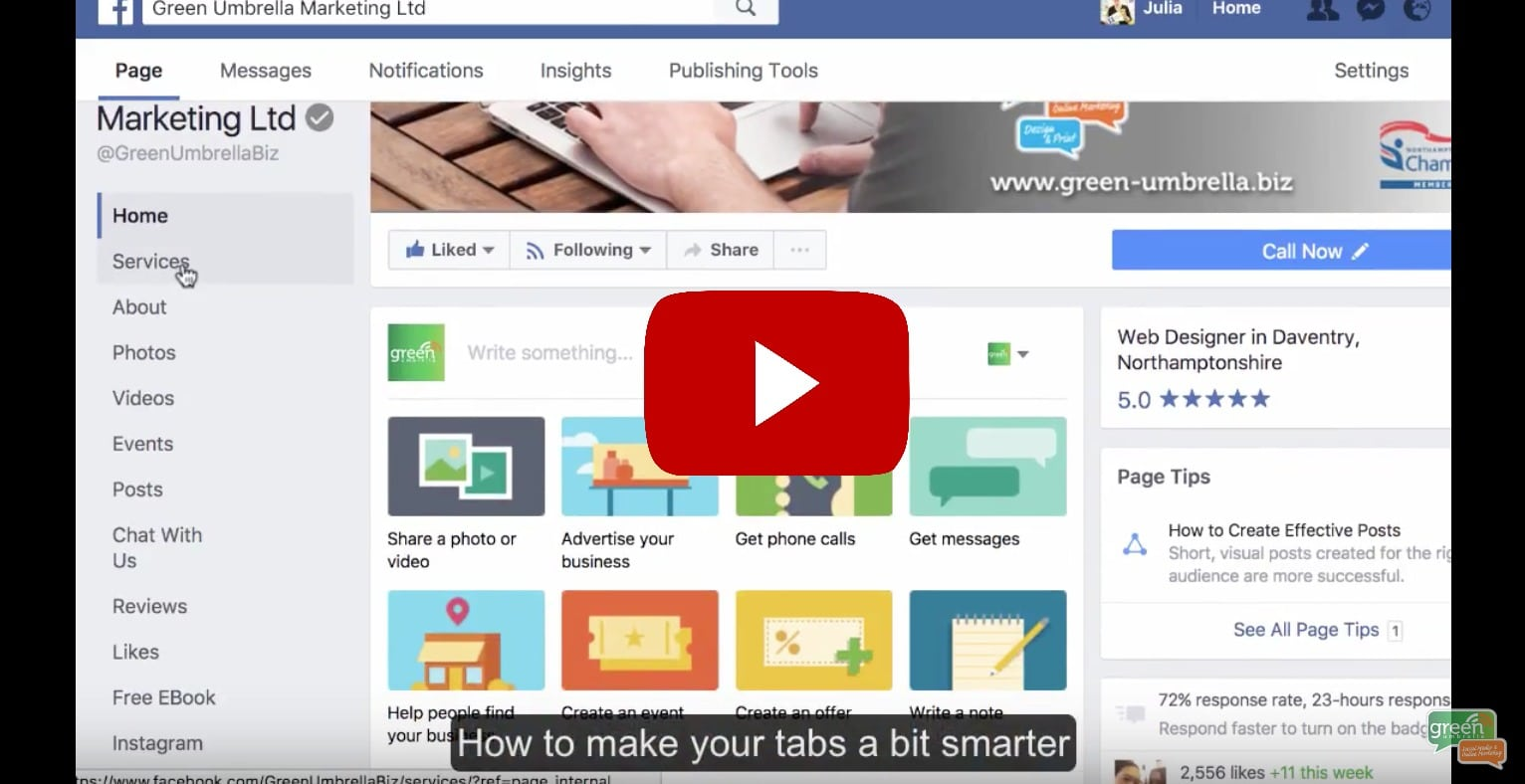 How to manage your Facebook tabs