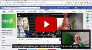 How to verify your Facebook Page