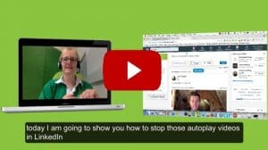 How to disable LinkedIn autoplay videos