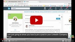 How to pin a post to a linkedin company page