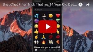 snapchat filter trick