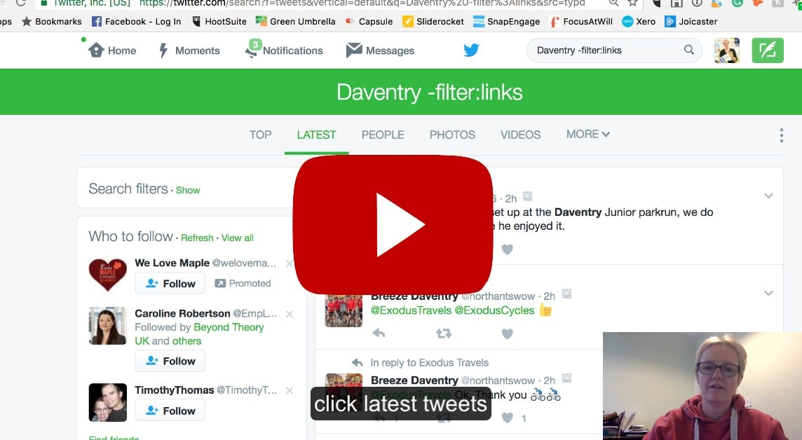 How to remove links from your Twitter search