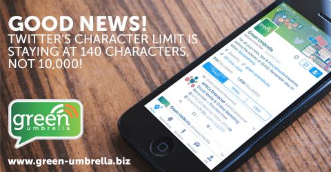Good news! Twitter's Character Limit is Staying at 140 characters, not 10,000!
