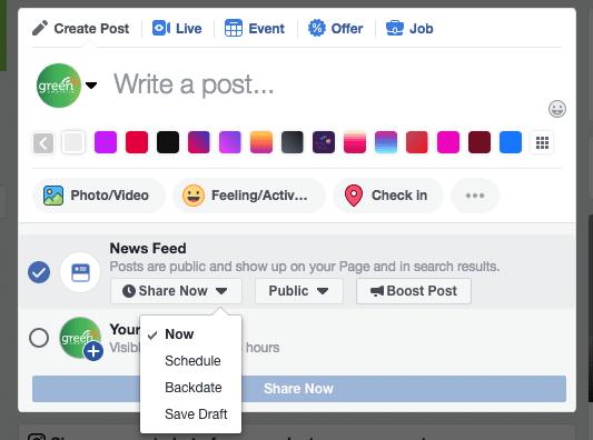 facebook schedule a post