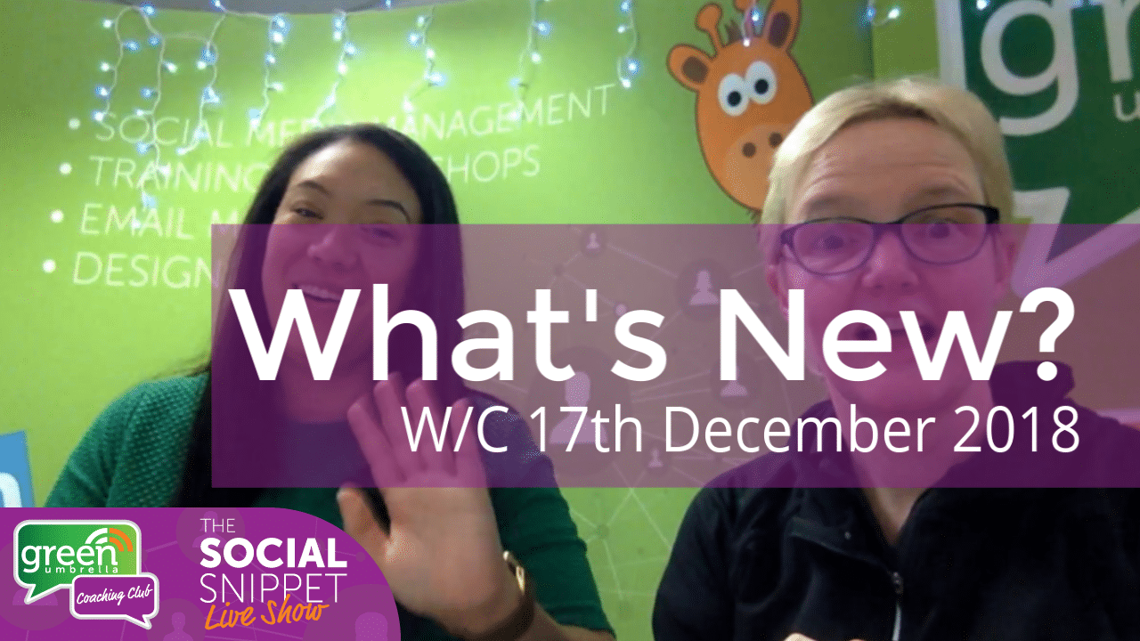 Social Snippet Show w_c 17th December