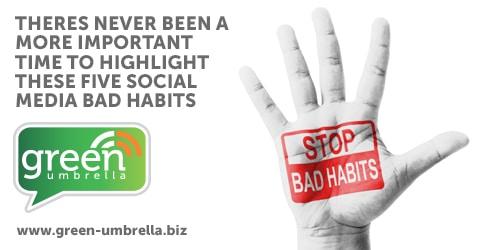 Social media bad habits