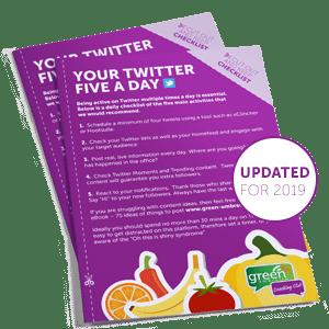 Twitter 5 A Day Checklist