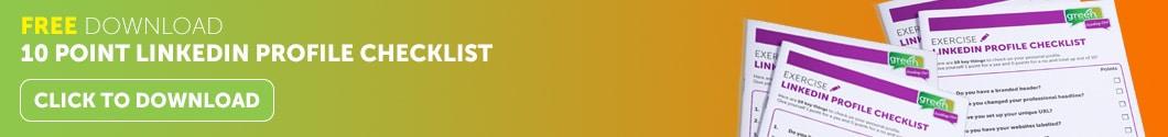 Linkedin Checklist banner