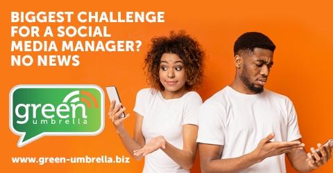 Biggest challenge for a social media manager? No News