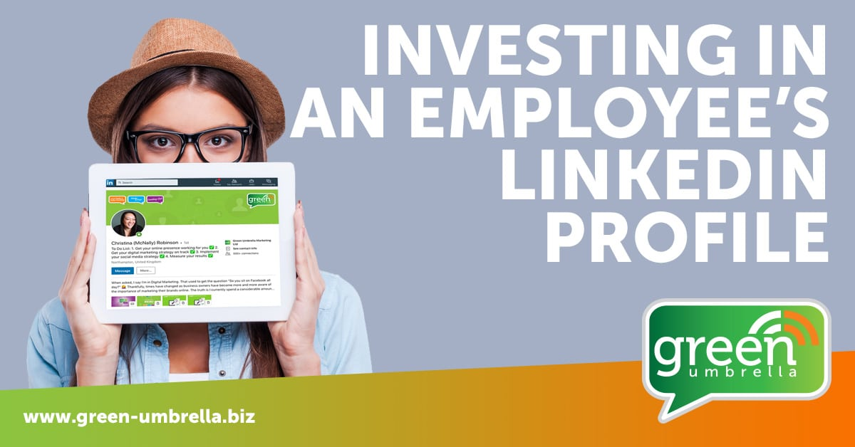Investing in an employee's LinkedIn Profile. Where's the benefit?