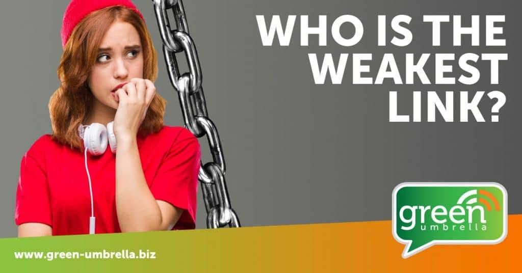 Weakest link in company online security