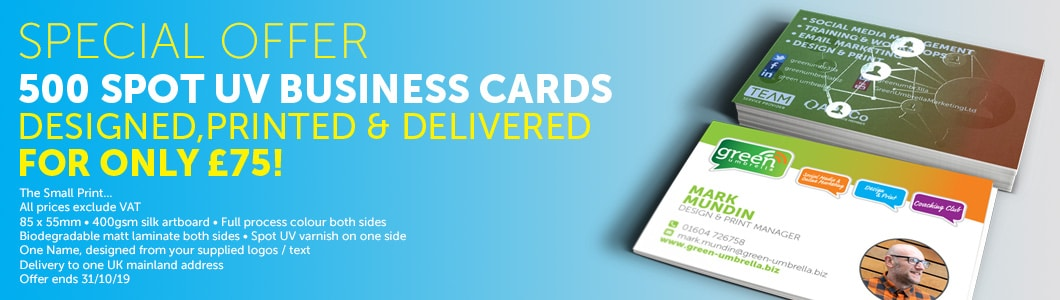 Business card offer