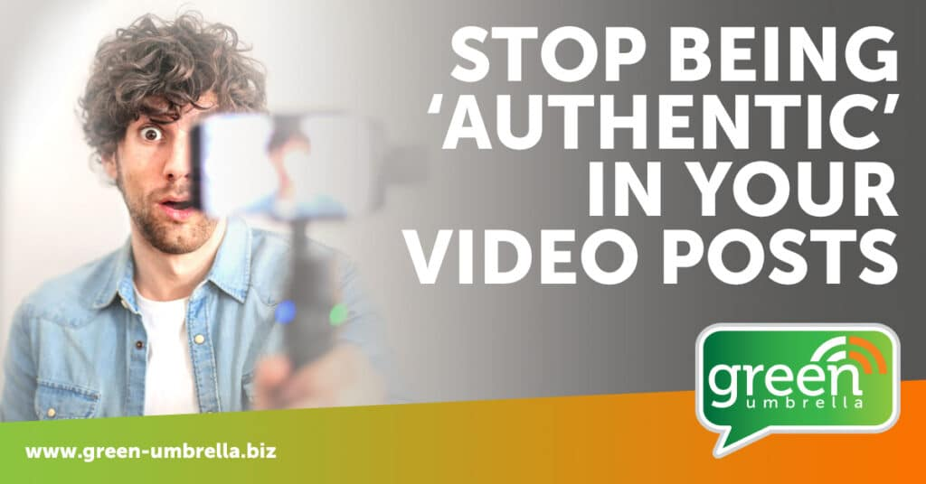 Honest or just couldn't be bothered? Why you may need to stop being 'authentic' in your video posts