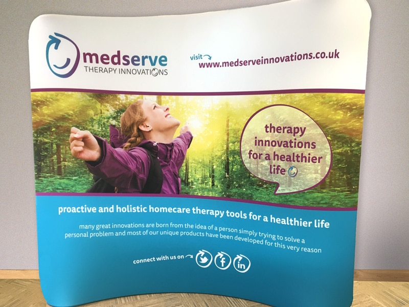 Medserve Fabric Display Stand