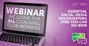Webinar - Essential Social Media Housekeeping Jobs You Can do Now