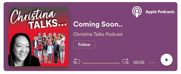 Christina Talks Apple Podcast